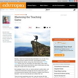 Mastering the Teaching Game