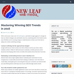 Mastering Winning SEO Trends in 2016