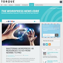 Mastering WordPress: 48 resources to go from newbie to pro