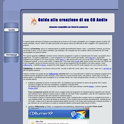 Guida per masterizzare un CD Audio correttamente