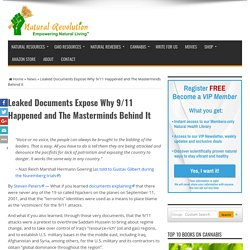 Leaked Documents Expose Why 9/11 Happened and The Masterminds Behind It – Natural Revolution