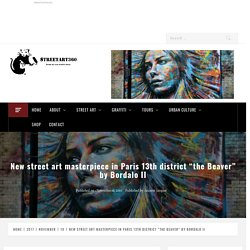"Bordalo II masterpiece ""the Beaver"", Paris 13th"