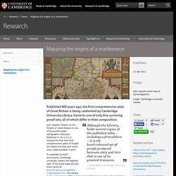 Mapping the origins of a masterpiece - Research - University of Cambridge
