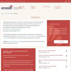 Masters de l'Enssib