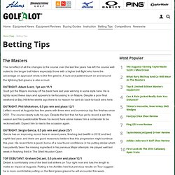 Golf betting tips, betting tips, betting tips, bet on golf at Golfalot.com