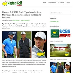Masters Golf 2020 Early Odds: Tiger Woods, Brooks Koepka, Rory McIlroy
