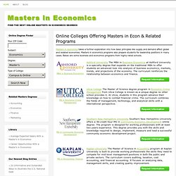 Masters in Economics: Guide to Online Economics Degrees