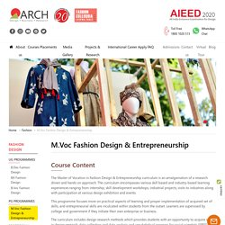 Masters in Fashion Management