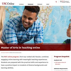 Master of Arts in Teaching Online | Masters in Teaching | MAT@USC