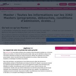 Liste des Masters en France : Annuaire des Masters