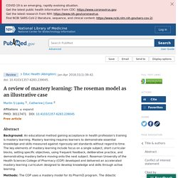 A review of mastery learning: The roseman model as an illustrative case - PubMed