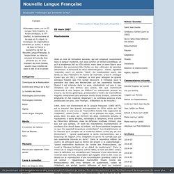 Mastodonte : Nouvelle Langue Française