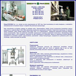 DYS-PAK maszyny i urządzenia dla przemysłu spożywczego