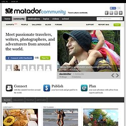 User account | Matador Travel