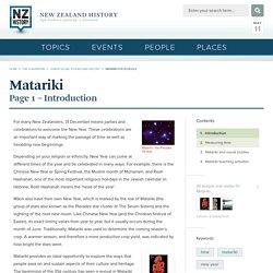 Matariki for schools - Matariki