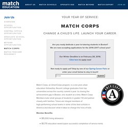 Match Corps — Match Education
