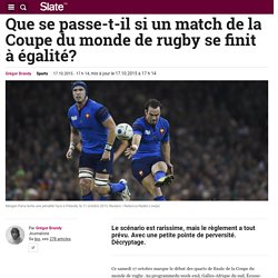Que se passe-t-il si un match de la Coupe du monde de rugby se finit à égalité?