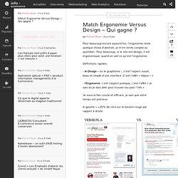 Match Ergonomie Versus Design – Qui gagne ?