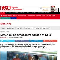 Match au sommet entre Adidas et Nike