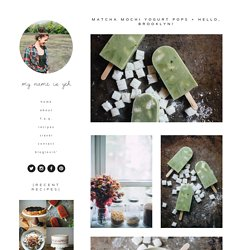 matcha mochi yogurt pops + hello, brooklyn! — molly yeh
