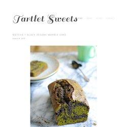 Matcha + Black Sesame Marble Cake