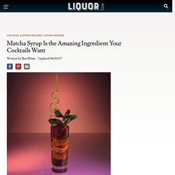 The Matcha Syrup Your Cocktails Need