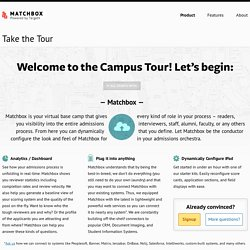 Matchbox iPad Admissions Review Product