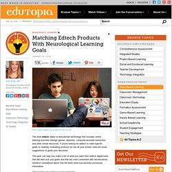 Matching Edtech Products With Neurological Learning Goals