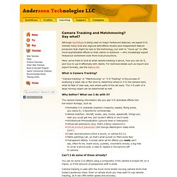 Camera Tracking and Matchmoving - Andersson Technologies LLC