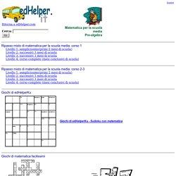 Matematica e pre-algebra per la scuola media: stampabili e schede
