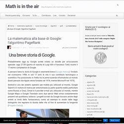 La matematica alla base di Google