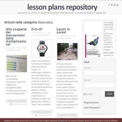 Matematica Archivi - lesson plans repository