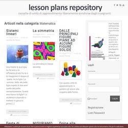 Matematica Archivi - Pagina 3 di 5 - lesson plans repository