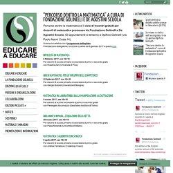 """""""Percorso dentro la matematica"""" a cura di Fondazione Golinelli e De Agostini Scuola"""