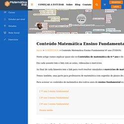 Conteúdo Matemática Ensino Fundamental 6º ano (TODOS)