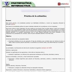 EDUTEKA-Matemática Interactiva-Práctica de la aritmética