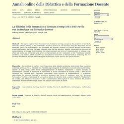 La didattica della matematica a distanza ai tempi del Covid-19 e la sua interazione con l'identità docente