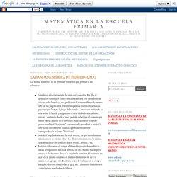 MATEMÁTICA EN LA ESCUELA PRIMARIA: LA BANDA NUMÉRICA DE PRIMER GRADO