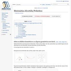 Matemática divertida/Poliedros