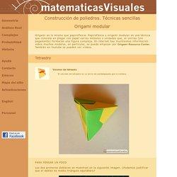 Construcción de poliedros. Técnicas sencillas: Origami modular