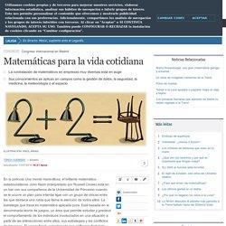 Matemáticas para la vida cotidiana