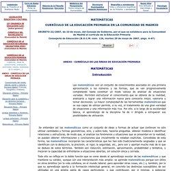 Matemáticas - Educación Primaria - Comunidad de Madrid