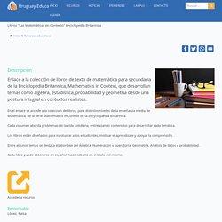 """Libros """"Las Matemáticas en Contexto"""" Enciclopedia Britannica"""