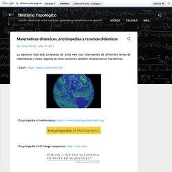 Matemáticas dinámicas, enciclopedias y recursos didácticos