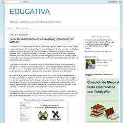 Fórmulas matemáticas en eXeLearning, potenciado con MathJax