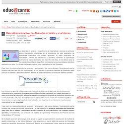 Matemáticas interactivas con Descartes en tablets y smartphones