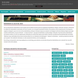 Blog del Instituto de Matemáticas de la Universidad de Sevilla