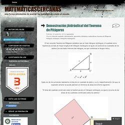 Demostración ¡hidráulica! del Teorema de Pitágoras