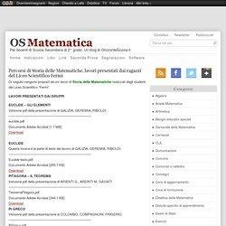 Percorsi di Storia delle Matematiche, lavori presentati dai ragazzi del Liceo Scientifico Fermi