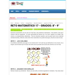 RETO MATEMÁTICO 17 - GRADOS: 8°- 9°